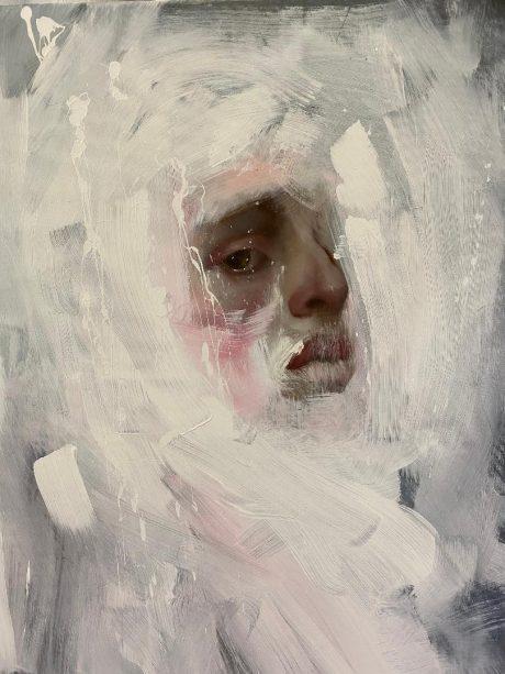 """""""Guardami, tra il vento e i ricordi"""", 80 x 60 cm, Olio su tela"""