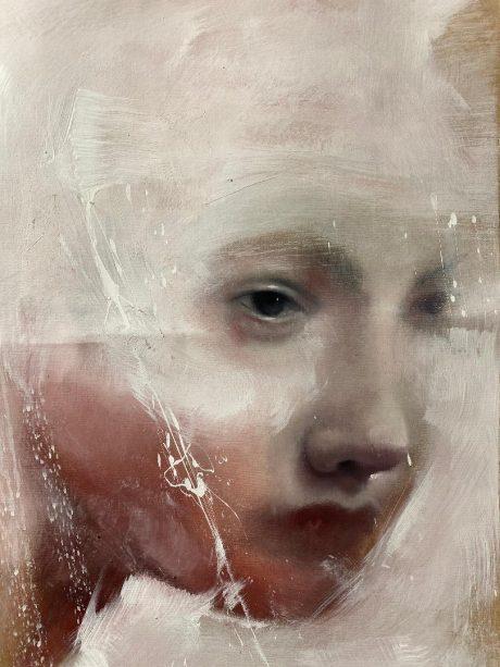 """""""Cuore di cera in mezzo ai fuochi"""", 50 x 40 cm , Olio su tela"""